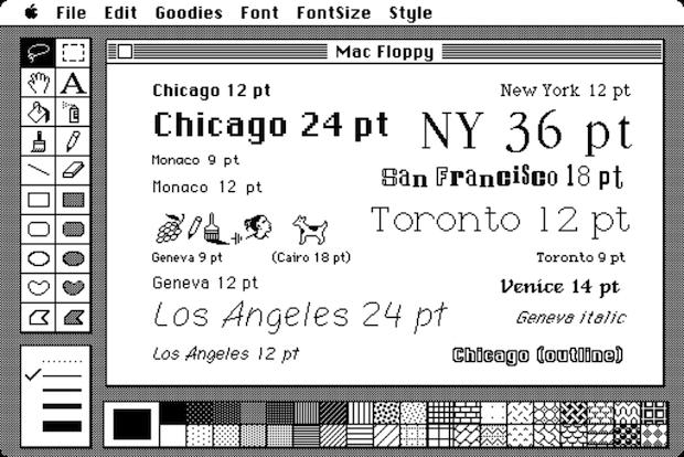 Macintosh fonts