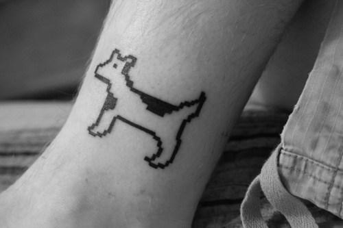 Dog cow tattoo
